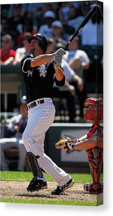 American League Baseball Canvas Print featuring the photograph Paul Konerko by Jonathan Daniel