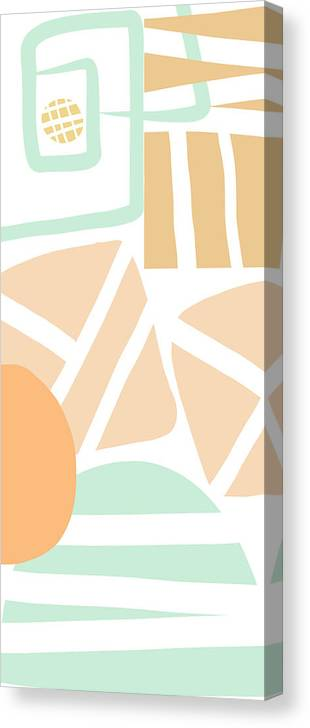 Abstract Canvas Print featuring the mixed media Bento 3- abstract shapes art by Linda Woods