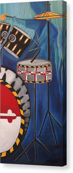 Maryland Canvas Print featuring the painting Maryland Drums by Kate Fortin