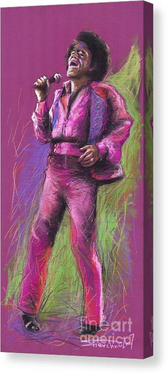 Jazz Canvas Print featuring the painting Jazz James Brown by Yuriy Shevchuk