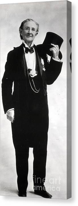 People Canvas Print featuring the photograph Doctor Mary Walker In Tuxedo by Bettmann