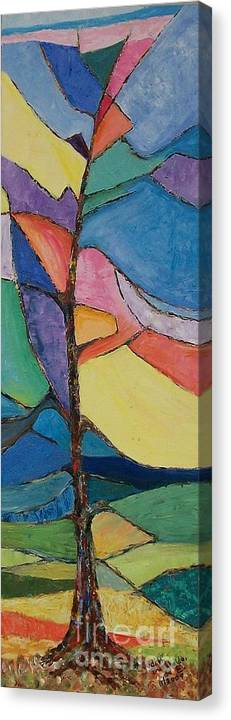 Impressionistic Canvas Print featuring the painting Tree Sky Symphony - SOLD by Judith Espinoza