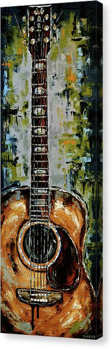 Guitar Canvas Print featuring the painting Martin by Magda Magier