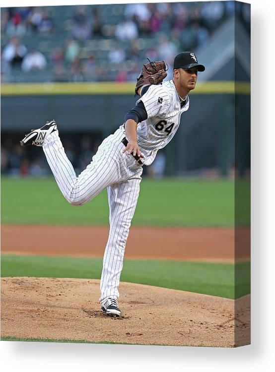 American League Baseball Canvas Print featuring the photograph Arizona Diamondbacks V Chicago White Sox by Jonathan Daniel