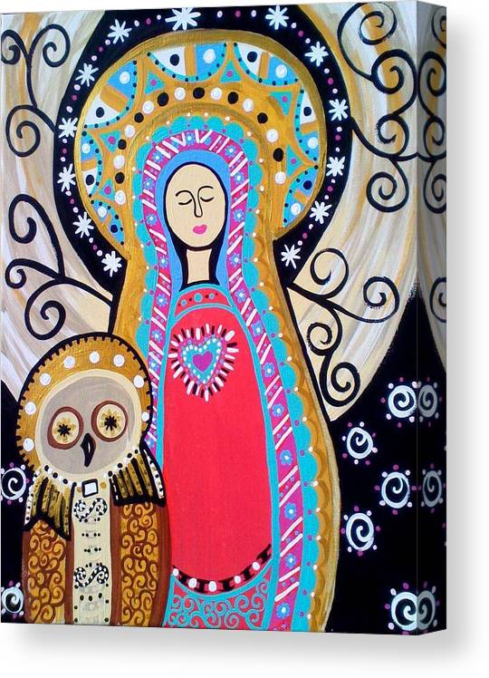 Madonna Canvas Print featuring the painting Blessed Guidance by Jamie Lopez