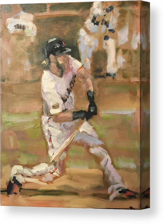 Sf Giants Canvas Print featuring the painting Untitled 1 by Darren Kerr