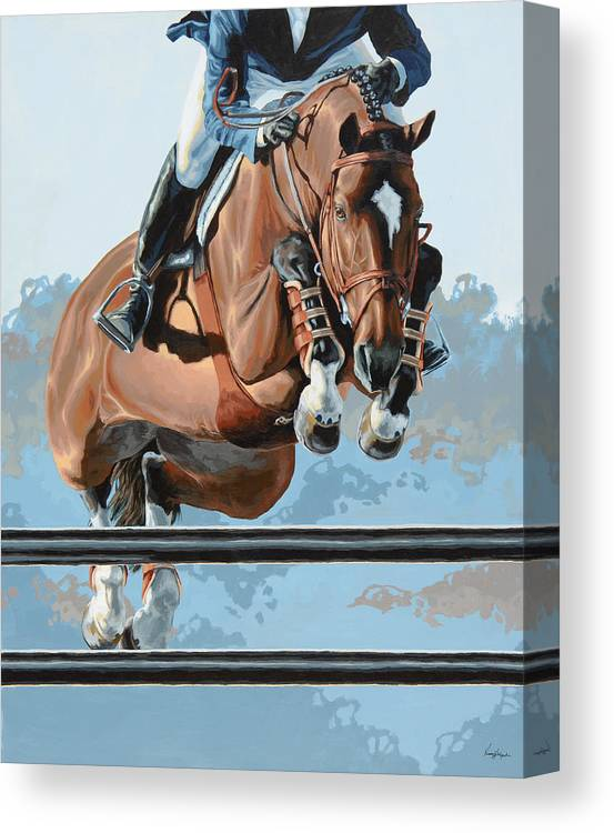 Horse Canvas Print featuring the painting High Style by Lesley Alexander