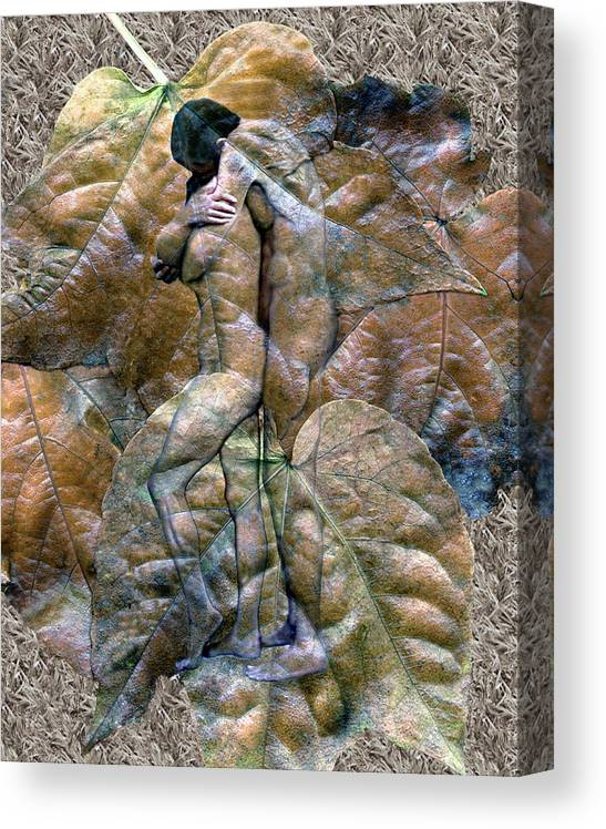 Nudes Canvas Print featuring the photograph Sheltered by Kurt Van Wagner