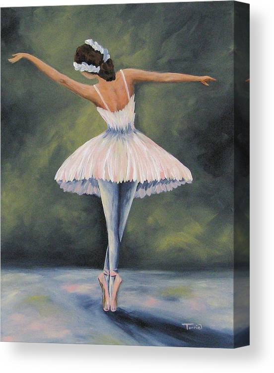 Ballerina Canvas Print featuring the painting The Ballerina IV by Torrie Smiley