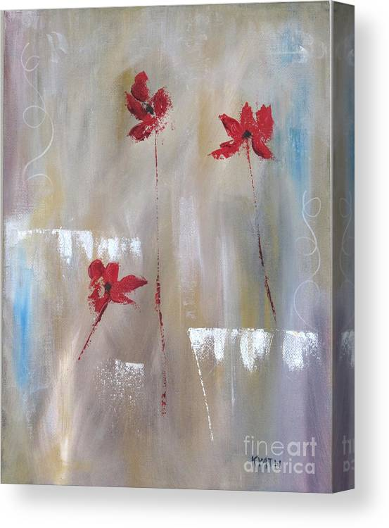 Painting Canvas Print featuring the painting Wisps by Karen Day-Vath
