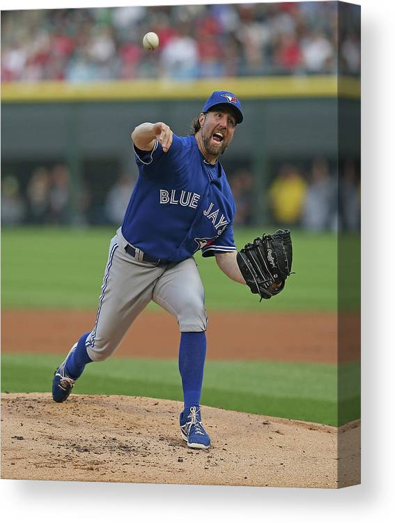American League Baseball Canvas Print featuring the photograph Toronto Blue Jays V Chicago White Sox by Jonathan Daniel
