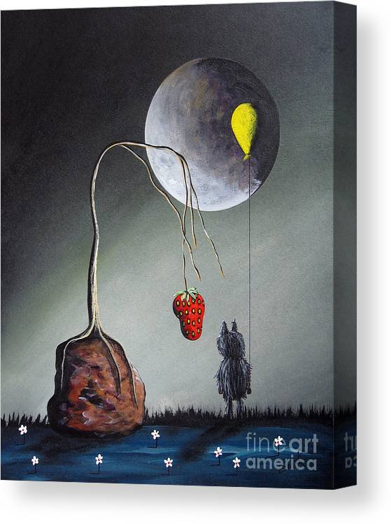 Gothic Canvas Print featuring the painting A Strange Dream by Shawna Erback by Fairy and Fairytale