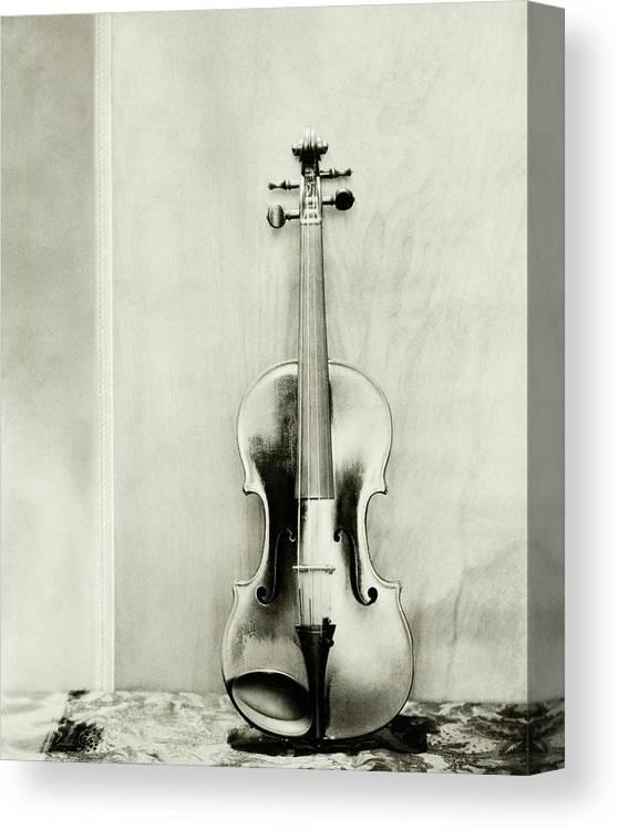 Studio Shot Canvas Print featuring the photograph A Violin by Edward Steichen