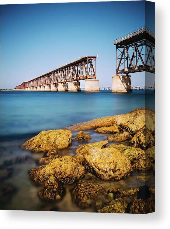 Seascape Canvas Print featuring the photograph Bahia Honda State Park Florida by Ferrantraite