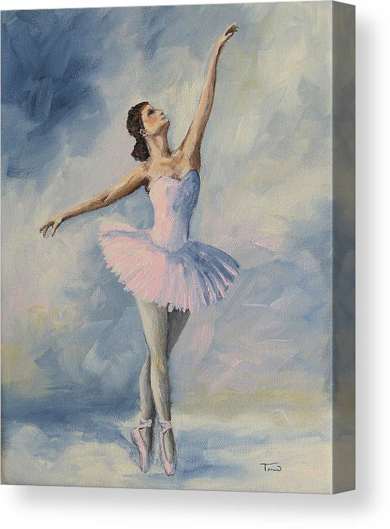 Ballerina Canvas Print featuring the painting Ballerina 001 by Torrie Smiley