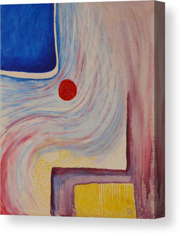 Abstract Canvas Print featuring the painting Circle and Corner by David Douthat
