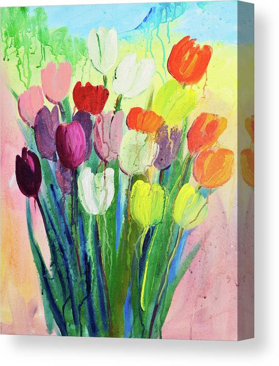 Art Canvas Print featuring the digital art Composition Of Flowers by Balticboy