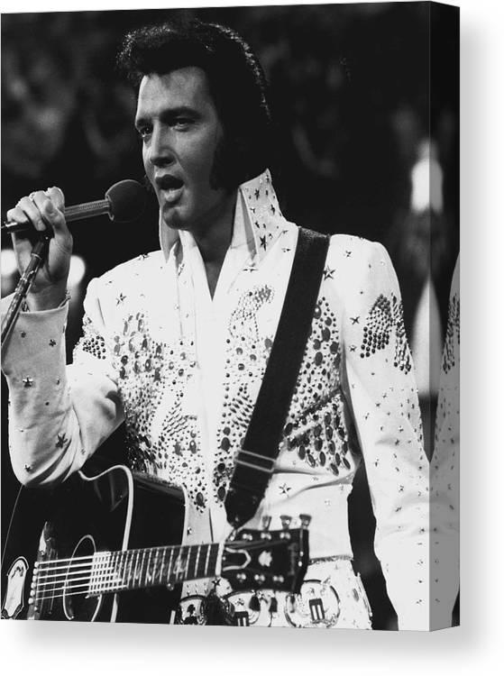 Art print POSTER Canvas Elvis Presley Performing