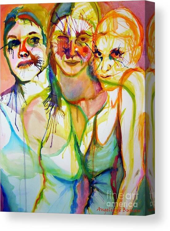 Women Canvas Print featuring the painting Empowerment by Angelique Bowman