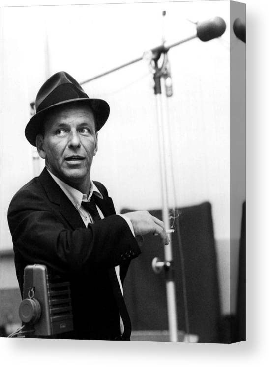 Frank Canvas Print featuring the photograph Frank Sinatra by Retro Images Archive