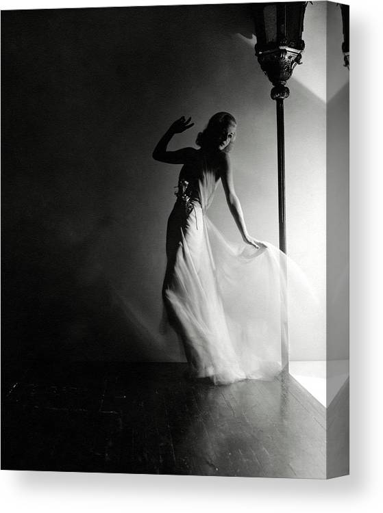 Dance Canvas Print featuring the photograph Ginger Rogers Wearing An Evening Gown by Horst P. Horst