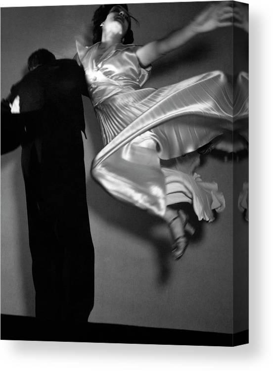 Dance Canvas Print featuring the photograph Grace And Paul Hartman Dancing by Edward Steichen