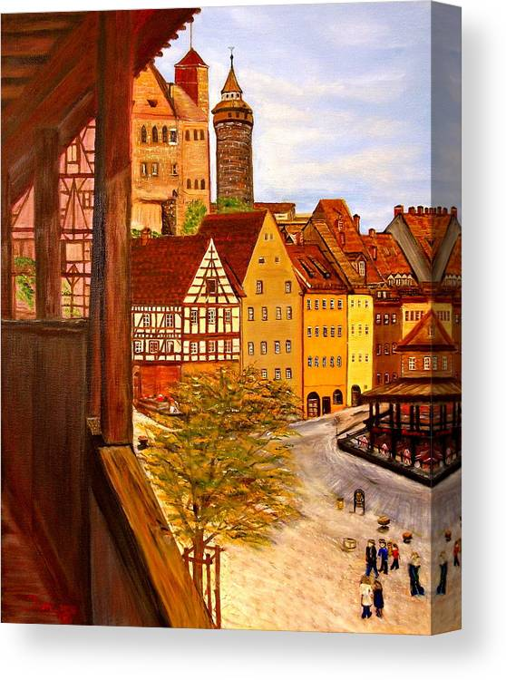 Castal Canvas Print featuring the painting Imperial Castal by Kenneth LePoidevin