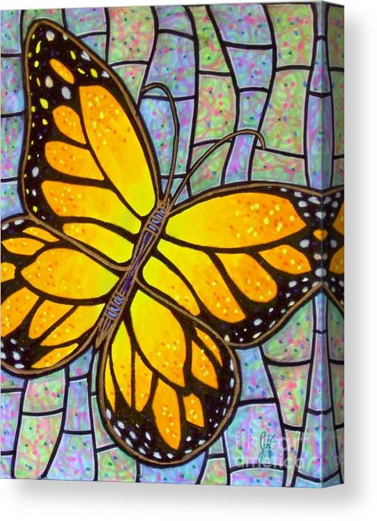 Butterflies Canvas Print featuring the painting Karens Butterfly by Jim Harris