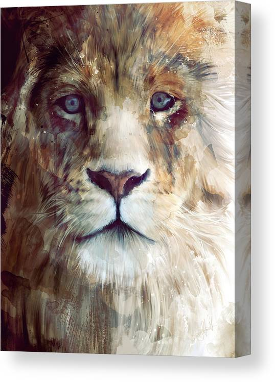 Lion Canvas Print featuring the painting Majesty by Amy Hamilton
