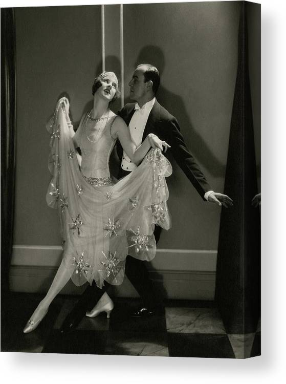 Beauty Canvas Print featuring the photograph Maurice Mouvet And Leonora Hughes Dancing by Edward Steichen