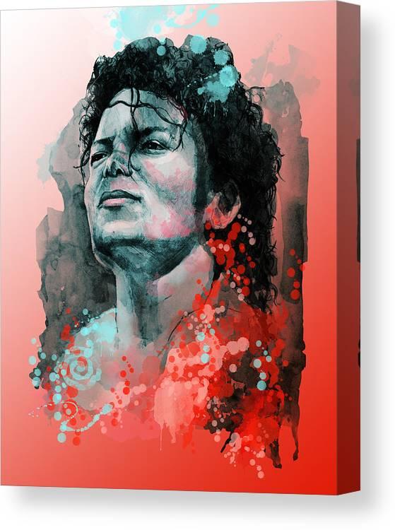 Michael Jackson Canvas Print featuring the painting Michael Jackson 13 by Bekim M
