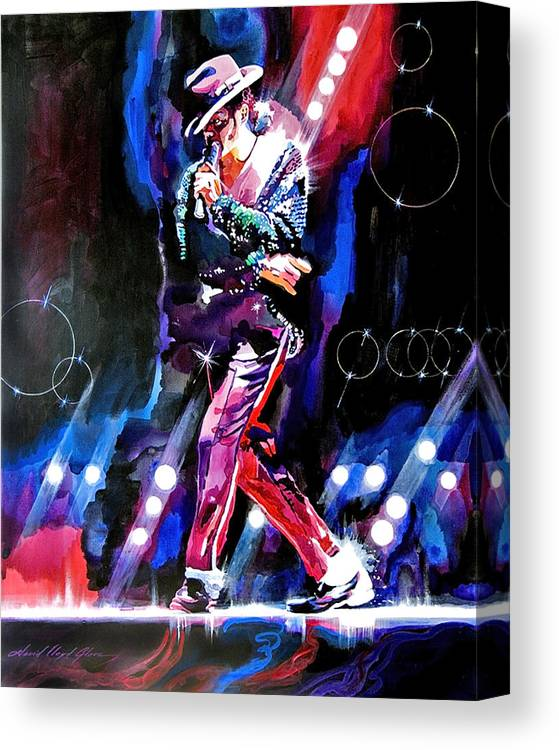 Michael Jackson Canvas Print featuring the painting Michael Jackson Moves by David Lloyd Glover