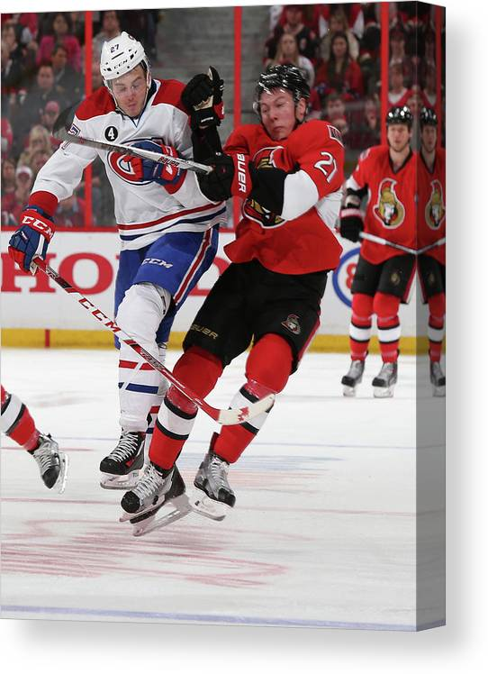 Playoffs Canvas Print featuring the photograph Montreal Canadiens V Ottawa Senators - by Andre Ringuette
