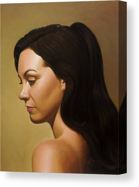 Figurative Canvas Print featuring the painting Muse by Gary Hernandez