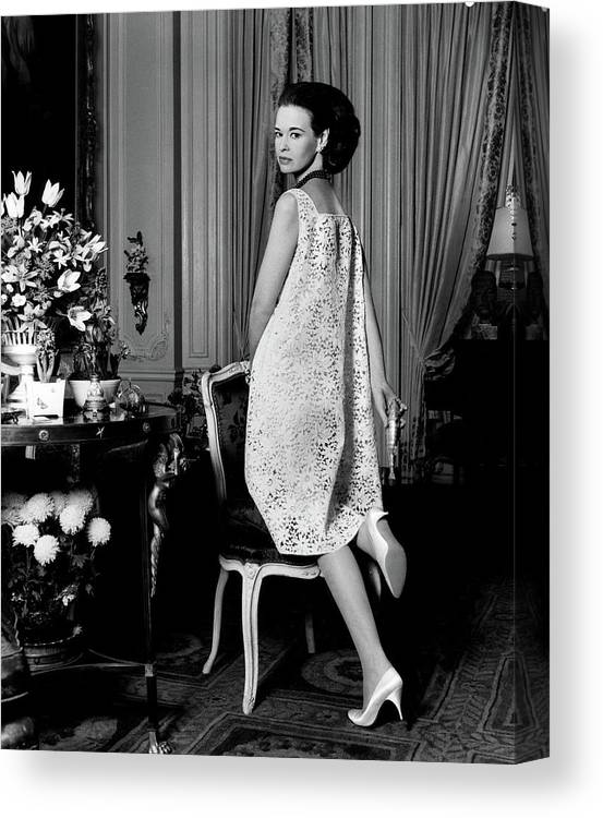 Fashion Canvas Print featuring the photograph Portrait Of Gloria Vanderbilt by Horst P. Horst