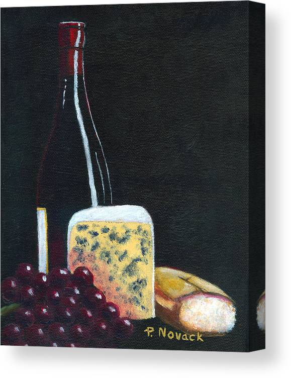 Wine Canvas Print featuring the painting Red Red Wine by Patricia Novack