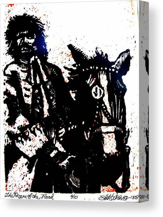 English Highwayman Canvas Print featuring the mixed media Rogue of the Road by Seth Weaver
