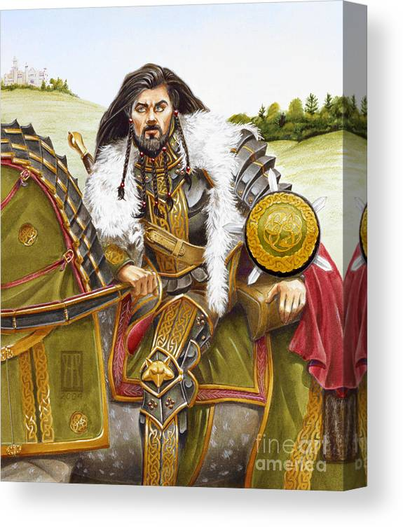 Fine Art Canvas Print featuring the painting Sir Marhaus by Melissa A Benson