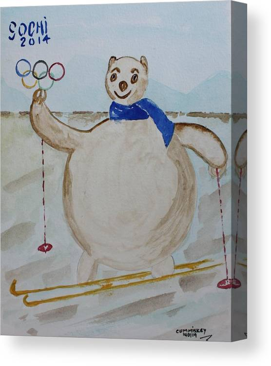 Olympic Games Canvas Print featuring the painting Sochi by Roger Cummiskey