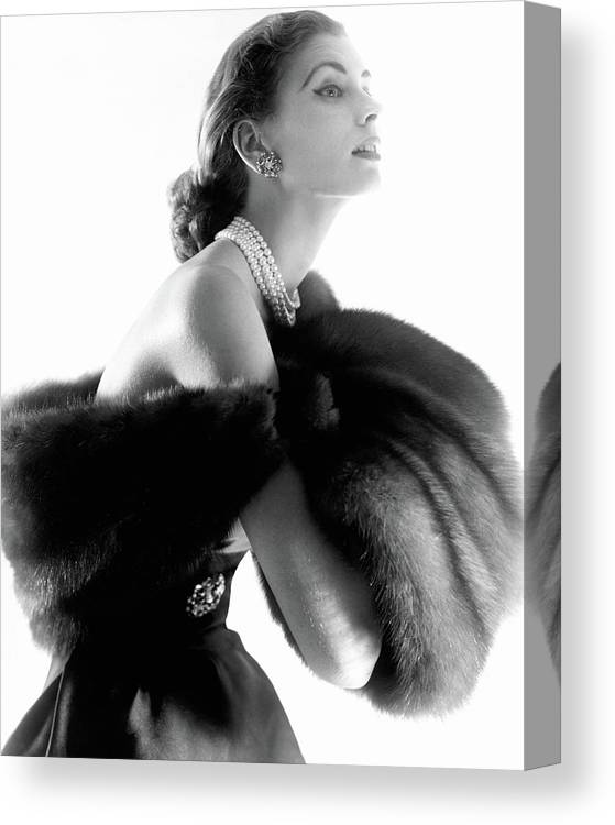 Personality Canvas Print featuring the photograph Suzy Parker by Horst P. Horst