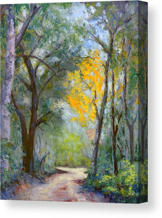 Plein Air Canvas Print featuring the painting The Road to Shell Redemption by Cecelia Campbell