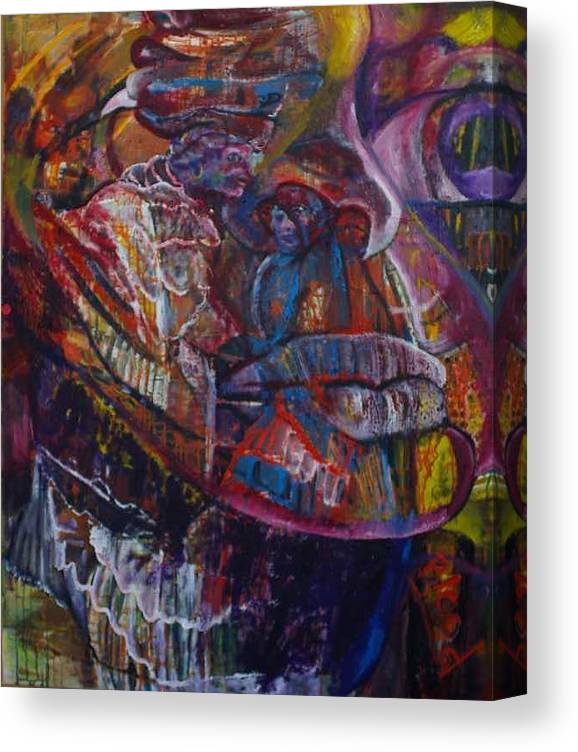 African Women Canvas Print featuring the painting Tikor Woman by Peggy Blood