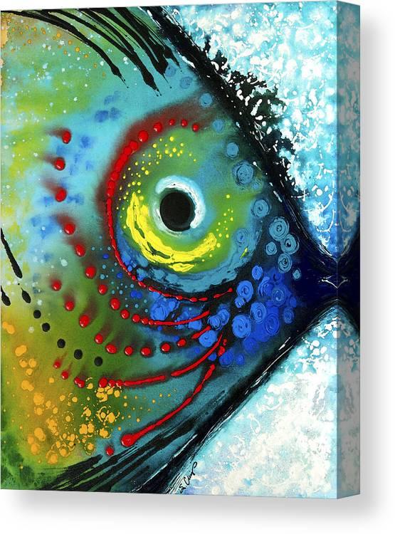Sharon Cummings Canvas Print featuring the painting Tropical Fish - Art by Sharon Cummings by Sharon Cummings