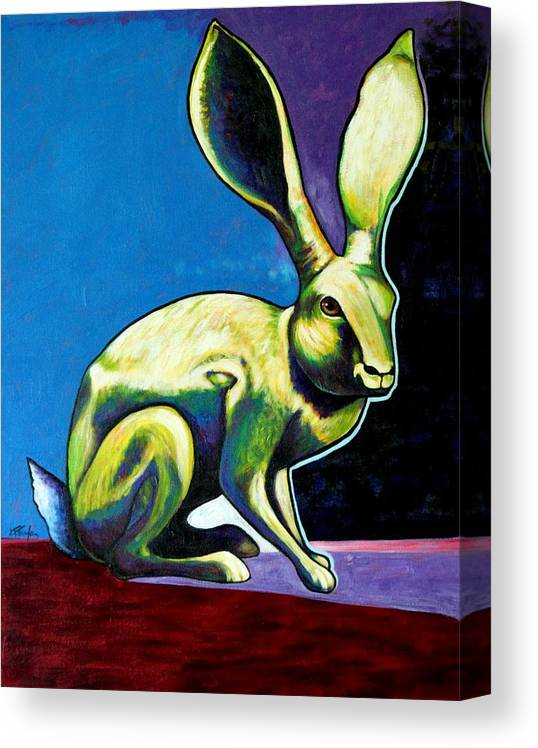 Hare Canvas Print featuring the painting Under The Radar Jackrabbit by Joe Triano