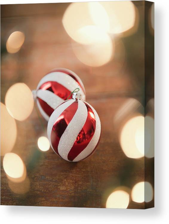 Christmas Ornament Canvas Print featuring the photograph Usa, New Jersey, Jersey City, Christmas by Jamie Grill