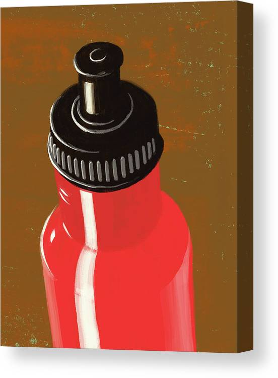 Purity Canvas Print featuring the digital art Water Bottle Illustration by Don Bishop