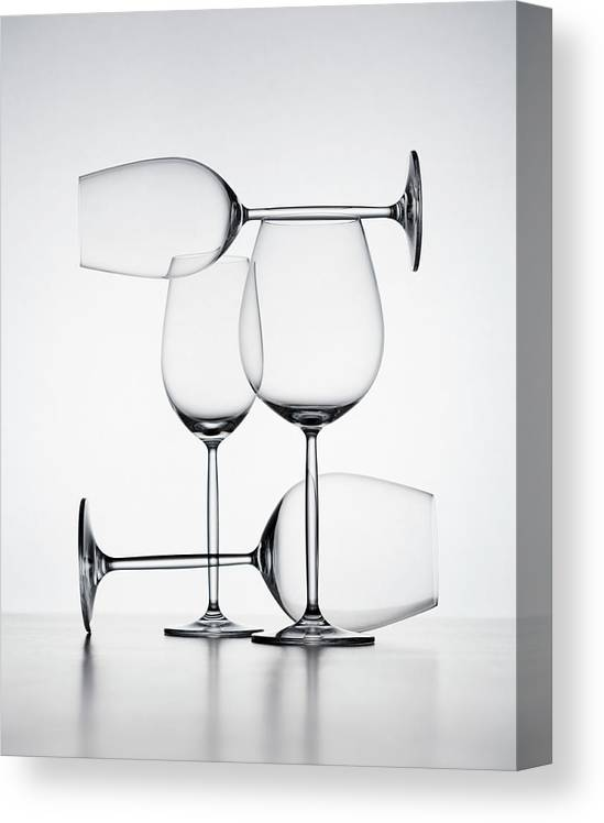 Empty Canvas Print featuring the photograph Wine Glasses by Jorg Greuel