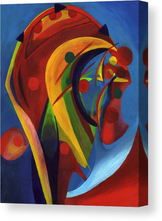 Energy Canvas Print featuring the painting Gathering Energy - Portrait by Peter Shor