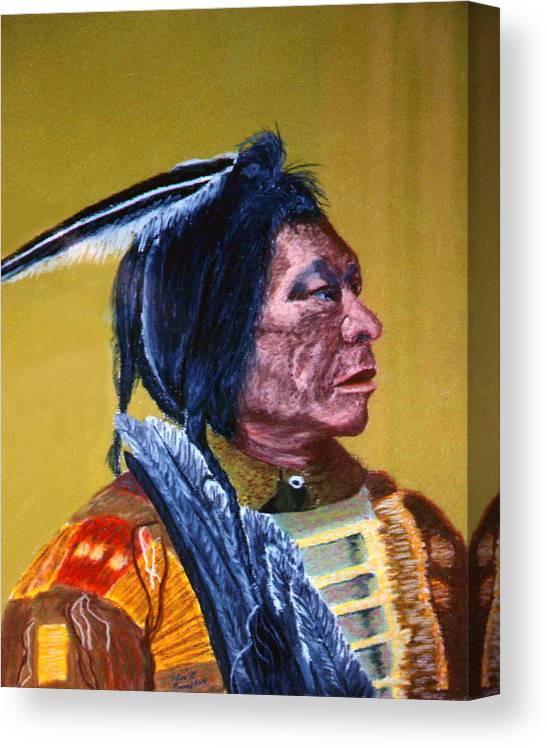 Indian Canvas Print featuring the painting Indian Scout by Stan Hamilton