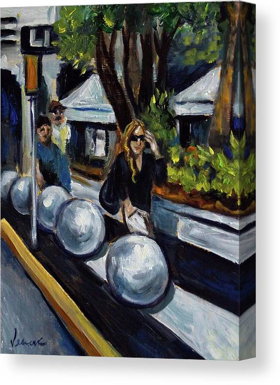 Sobe Canvas Print featuring the painting Lincoln Road by Valerie Vescovi